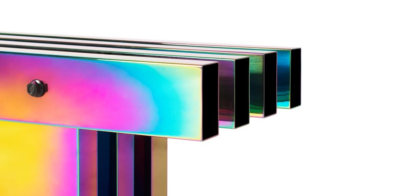 Contemporary Bench, HOT Collection, Gradient Stainless Steel 'Large' For Sale 9