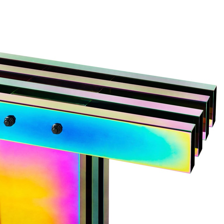 Contemporary Bench, HOT Collection, Gradient Stainless Steel 'Large' For Sale 2