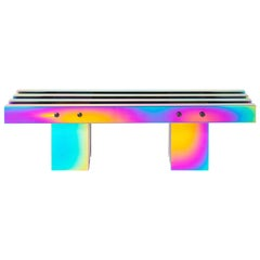 Contemporary Bench, HOT collection, Gradient Stainless Steel 'Medium'