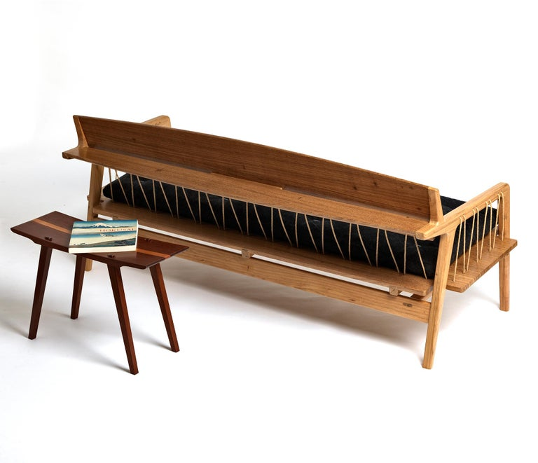 Contemporary tropical bench made in freijó or