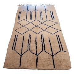 Contemporary Beni Ouarain Moroccan Berber Rug Designed by Jean Louis Deniot
