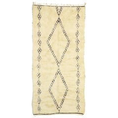 Contemporary Beni Ourain Moroccan Rug with Minimalist Style