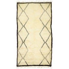Contemporary Beni Ourain Rug, Moroccan Rug with Modern Style
