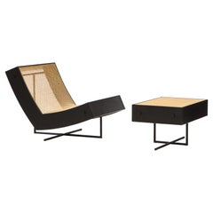Contemporary Benjamin Lounge Chair with Ottoman by Gustavo Bittencourt, Brazil