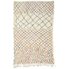 Contemporary Berber Moroccan Azilal Rug with Modern Style