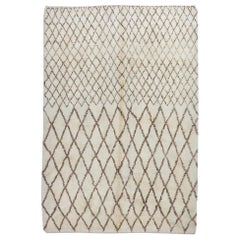 Contemporary Berber Moroccan Rug Made of Natural Wool, Custom Options Available