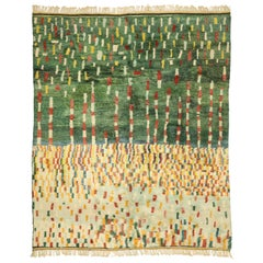 Contemporary Berber Moroccan Rug with Cubist Style and Abstract Expressionism
