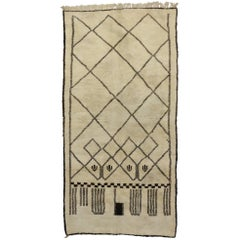 Contemporary Berber Moroccan Rug with Modern Bauhaus Style