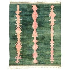 Contemporary Berber Moroccan Rug with Postmodern Abstract Expressionist Style