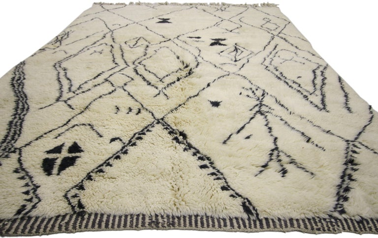 Modern Contemporary Berber Moroccan Rug with Tribal Design, Berber Moroccan Rug For Sale