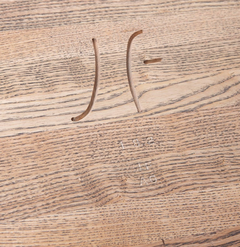 Contemporary Bespoke Ash Dining Table, Hand Carved Legs by Jonathan Field For Sale 2
