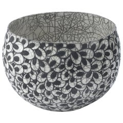 Black and White Ceramic Bowl, Coupe Printemps II