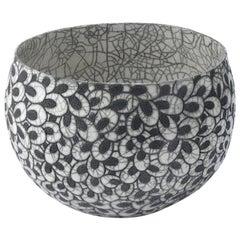 Black and White Ceramic Bowl, Coupe Printemps II