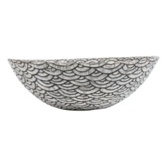 Black and White Ceramic Bowl, Coupe Japonaise II