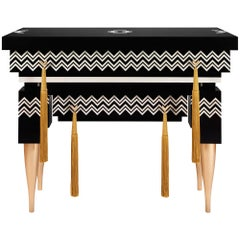 Contemporary Black and White Console