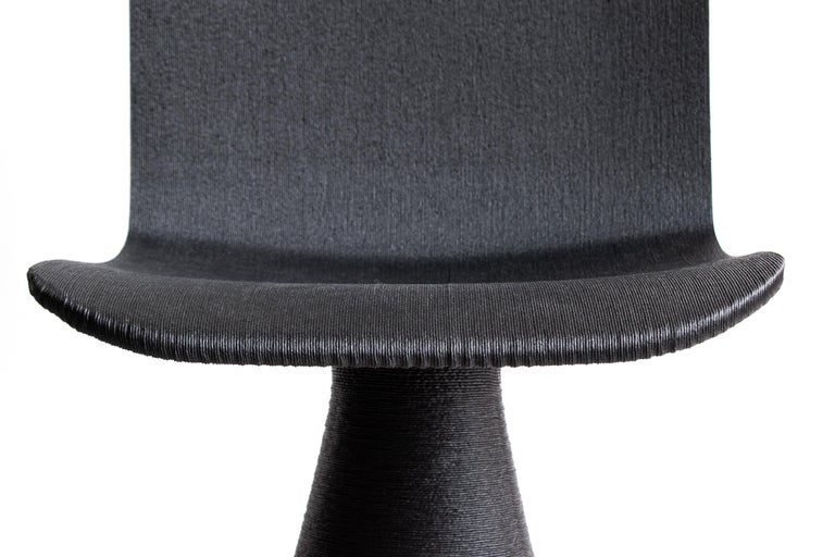 Italian Contemporary Black Chair, Additive Manufacturing in Biopolymers, Italy For Sale