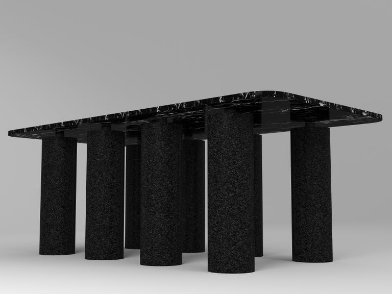 Other Contemporary Black Concrete Coffee Table, 8 by Oliver Whyte For Sale