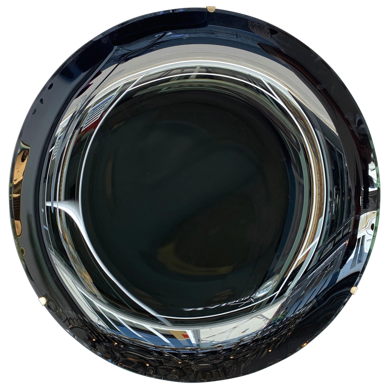 Contemporary Black Curve Mirror, Italy