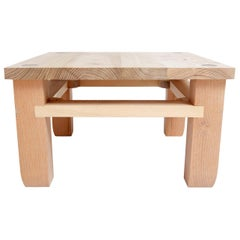Contemporary Black Locust Hardwood Low Garden Foyer Shower Shoe Bench Small