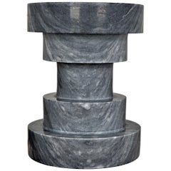 Contemporary Black Marble Side Table