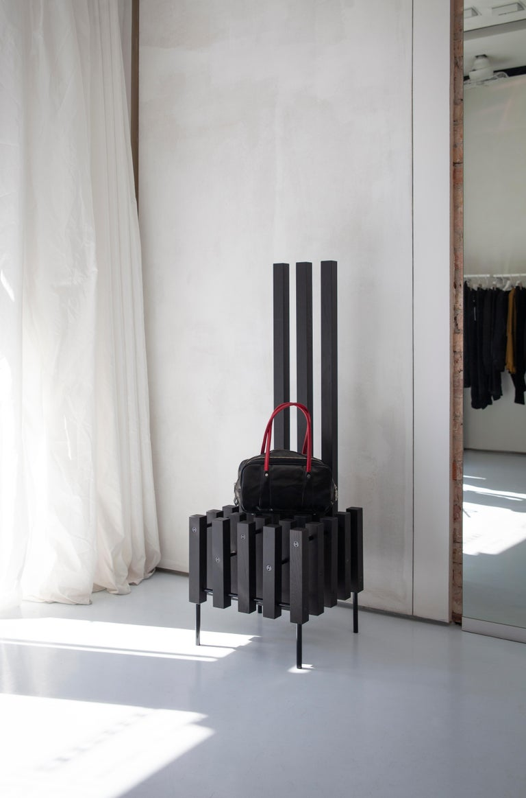 Contemporary Black Sculpture Chair Matrix by Studio 1+11, 21st Century, Germany In New Condition For Sale In Berlin, DE