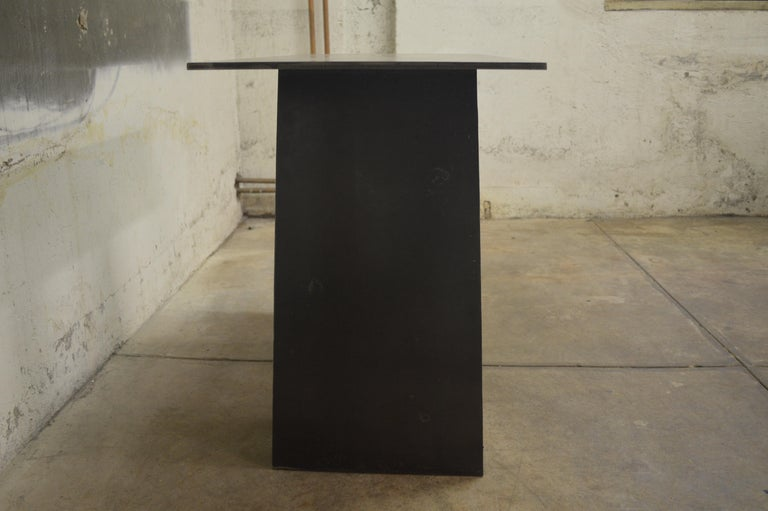 American Contemporary Blackened Steel Console Table by Scott Gordon For Sale