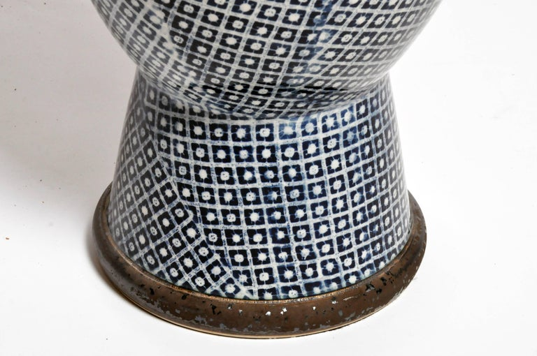 Contemporary Blue and White Ceramic Vases For Sale 10
