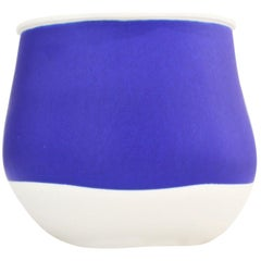 Contemporary Blue Ceramic Vase