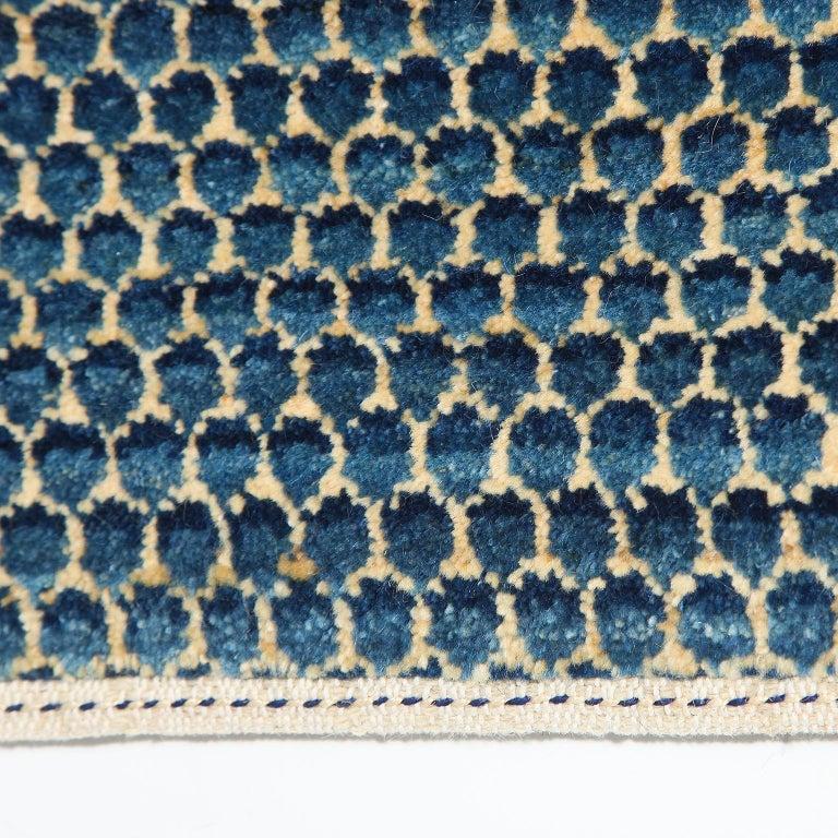 Contemporary Blue Persian Carpet Runner,