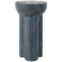 """Contemporary Blue Stone Stool """"Mayan Blue 03""""  by Carsten Lemme"""