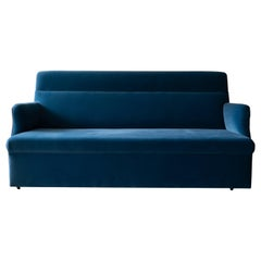 Contemporary Blue Upholstered Velvet Sofa by Azucena 'a'
