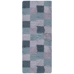 Contemporary Bluebell Swedish Rya Wool Rug