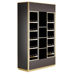 Contemporary Bottle Storage Winery by Fabio Arcaini Velvet Lacquered