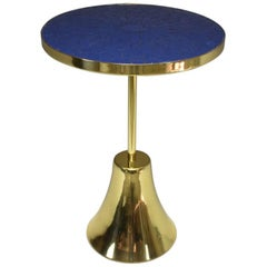Contemporary Brass and Mosaic Side Table