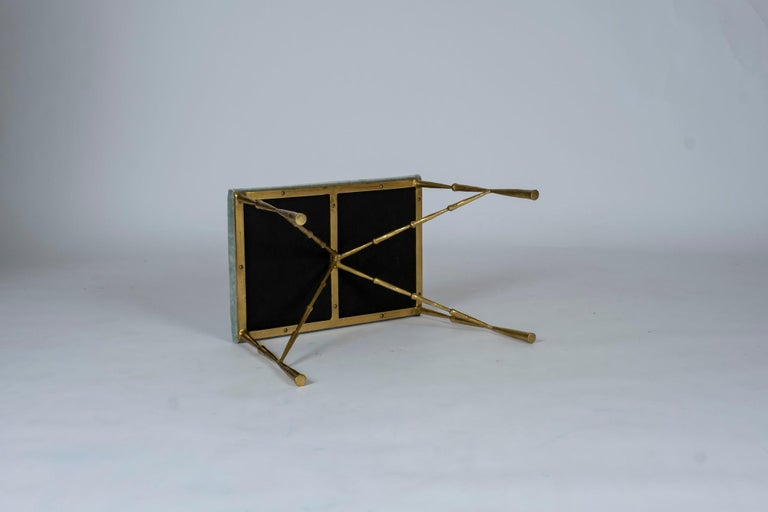 Contemporary Brass Bamboo Bench For Sale 3