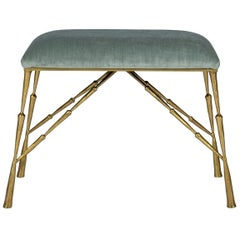 Contemporary Brass Bamboo Bench