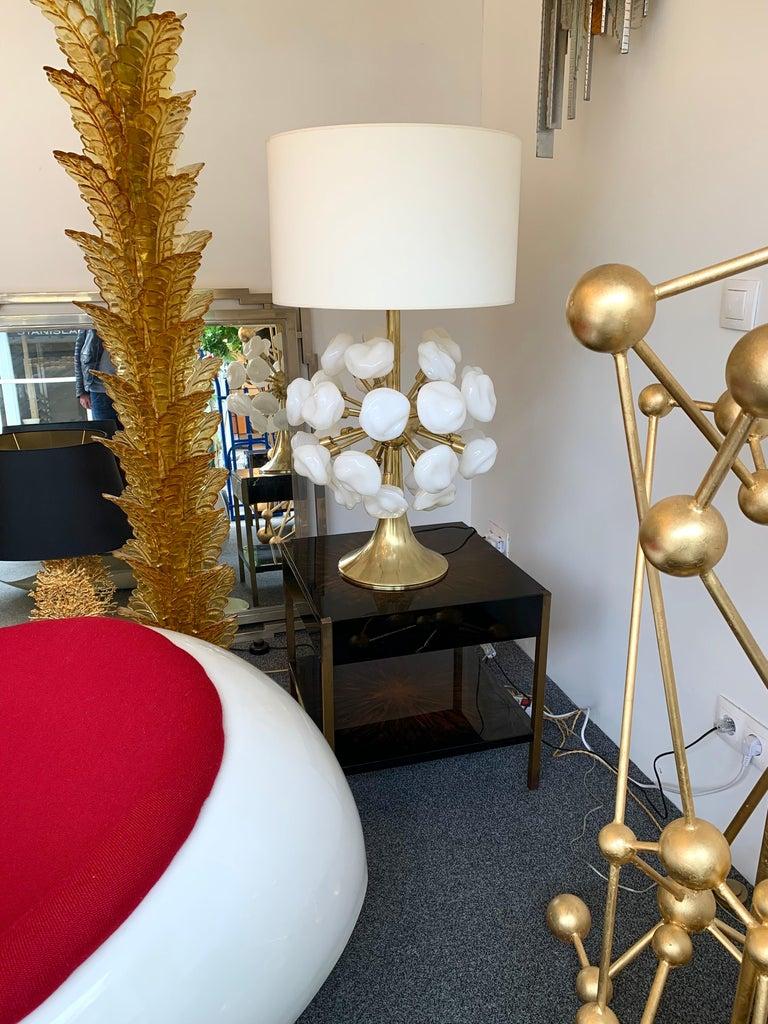 Contemporary Brass Sputnik Murano Glass Cloud Lamp, Italy For Sale 3