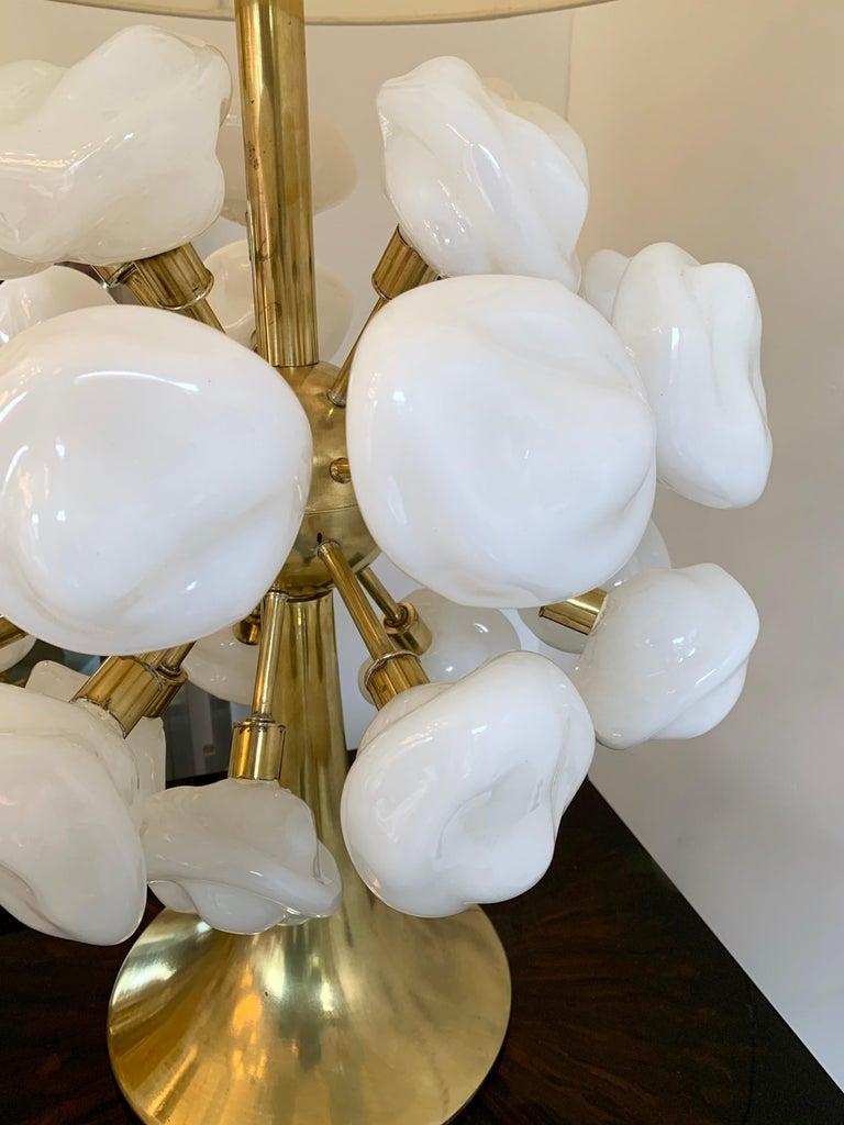 Contemporary Brass Sputnik Murano Glass Cloud Lamp, Italy For Sale 4