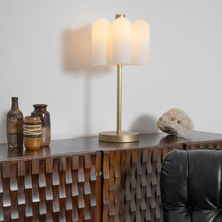 Polish Contemporary Brass Table Lamp by Schwung For Sale