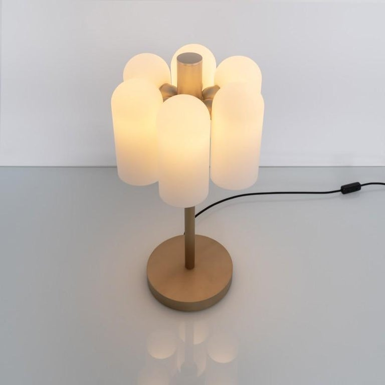 Contemporary Brass Table Lamp by Schwung In New Condition For Sale In Geneve, CH