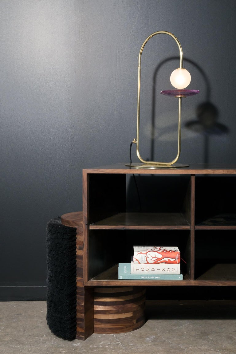 Mexican Contemporary Brass Table Lamp 'Circuits' by Luisa Restrepo & Aitor Garrido For Sale