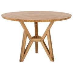 Contemporary Brazilian Design Side Table Meló Made in Tropical Solid Wood