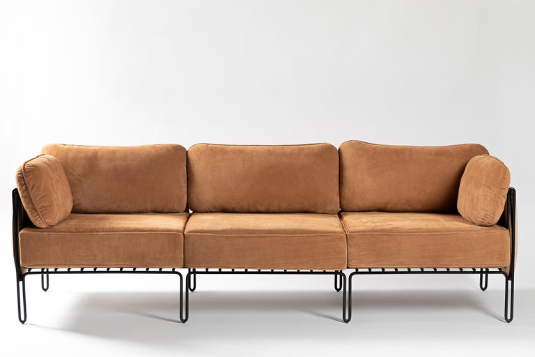 Painted Minimalist Brazilian Sofa