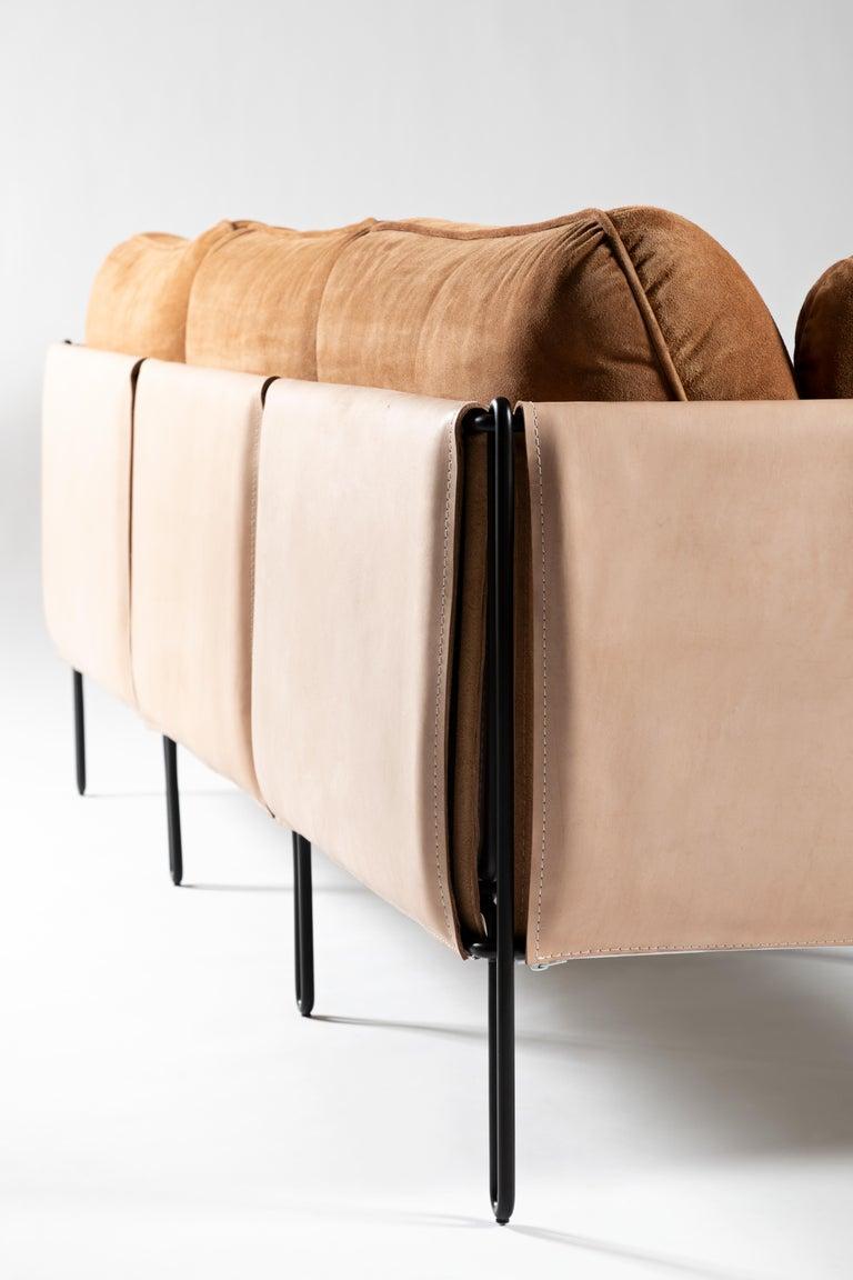 Leather Minimalist Brazilian Sofa