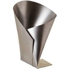 Origami Vase in Stainless Steel, Contemporary Brazilian Style, Rahyja Afrange