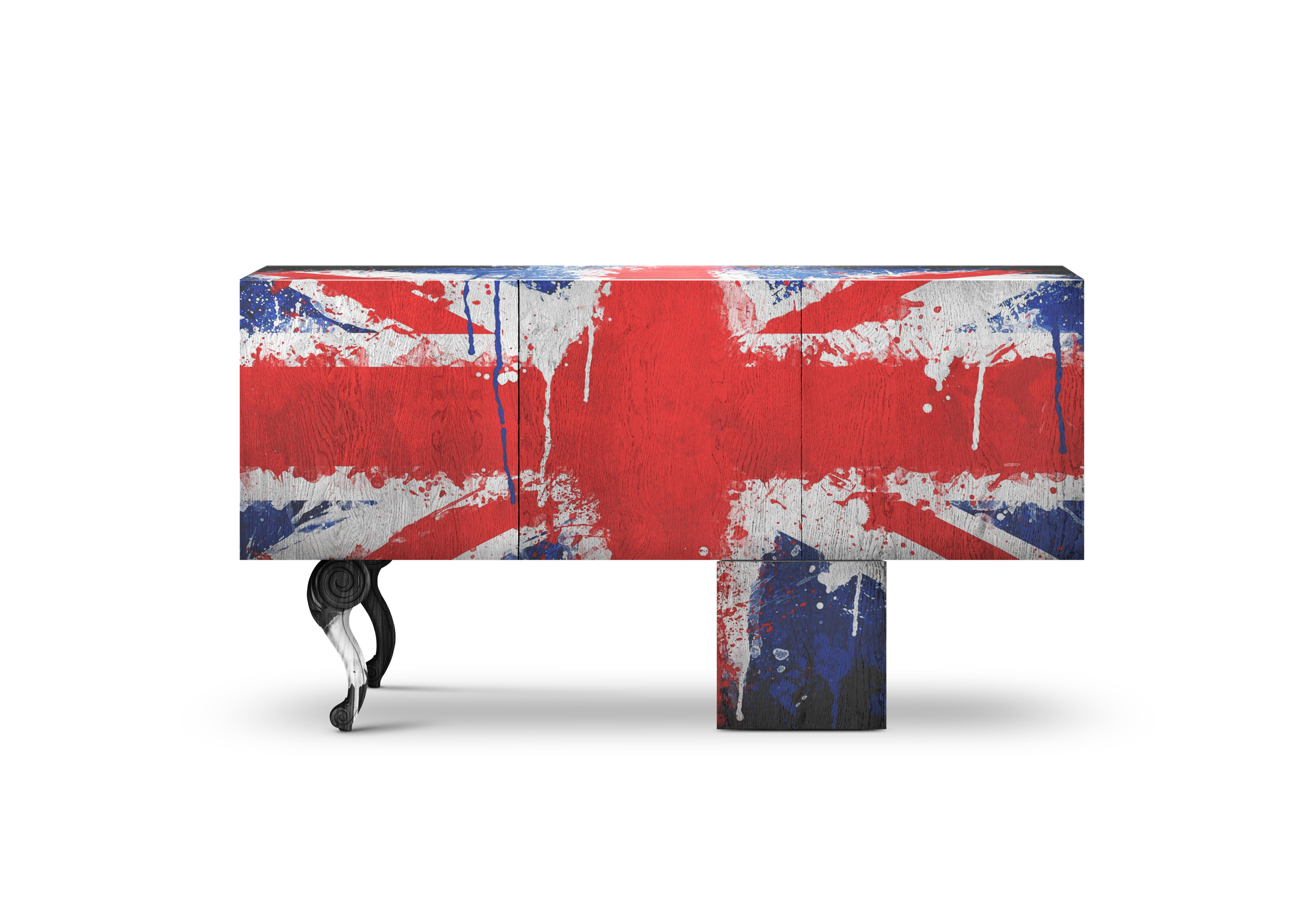 Credenza Definition In Art : Contemporary brexit sideboard or credenza with graffiti art and