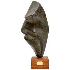 Contemporary British Stone Sculpture by Mo Gardner, 'Warrior', 1994