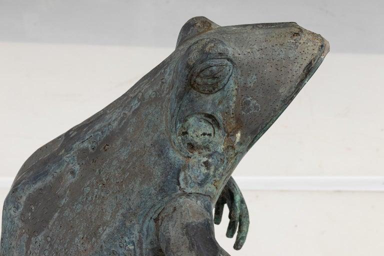 Contemporary Bronze Frog Fountain 6