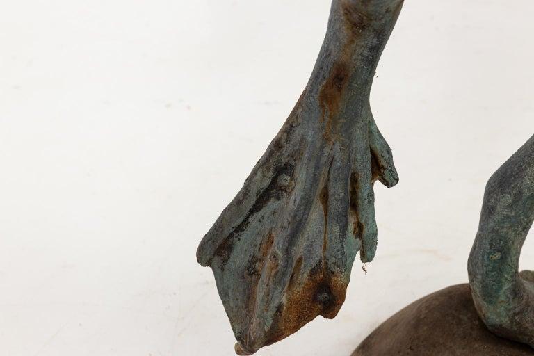 Contemporary Bronze Frog Fountain 7