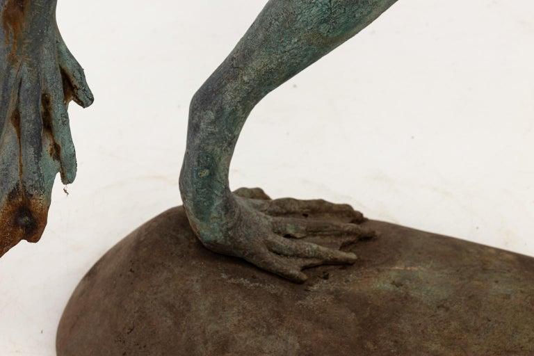 Contemporary Bronze Frog Fountain 8